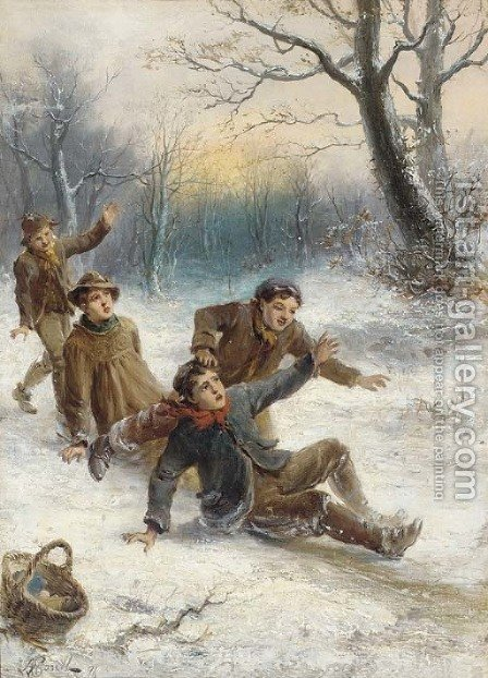 Frozen frolics by Alexander Rosell - Reproduction Oil Painting