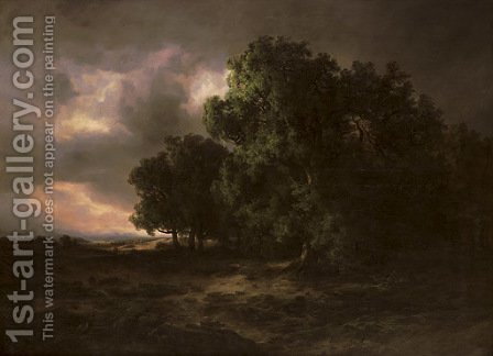 Orage, 1843 by Alexandre Calame - Reproduction Oil Painting