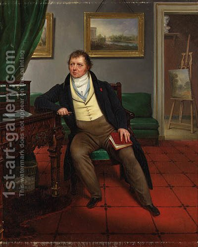 Portrait of the Artist by Alexandre-Franois-Louis Comte De Girardin - Reproduction Oil Painting