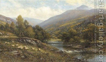 Moel Siabod, near Capel Curig, North Wales by Alfred Glendening - Reproduction Oil Painting