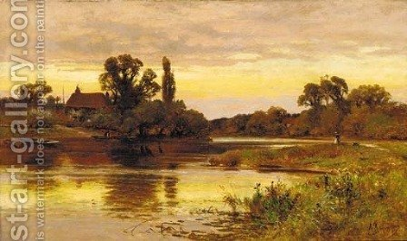 On the Thames, Laleham by Alfred Glendening - Reproduction Oil Painting
