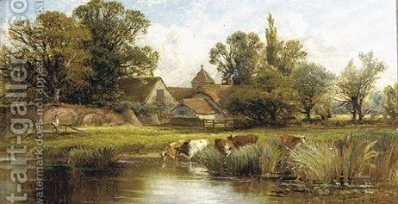 On the river by Alfred Glendening - Reproduction Oil Painting