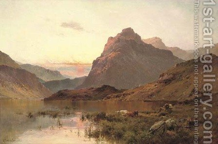 Ellen's Isle, Loch Katrine by Alfred de Breanski - Reproduction Oil Painting
