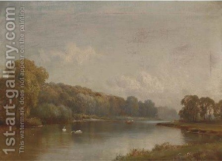 Quarry Wood, Marlow by Alfred de Breanski - Reproduction Oil Painting