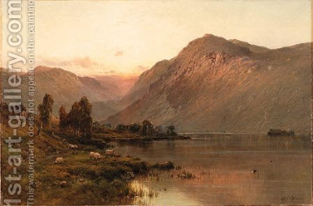 Bealach-nam-bo, Loch Katrin, NB by Alfred de Breanski - Reproduction Oil Painting