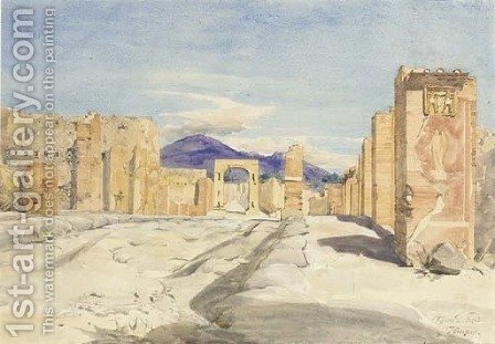 Pompeii, Italy by Alfred Downing Fripp - Reproduction Oil Painting