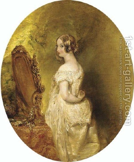 The bride by Alfred Woolmer - Reproduction Oil Painting
