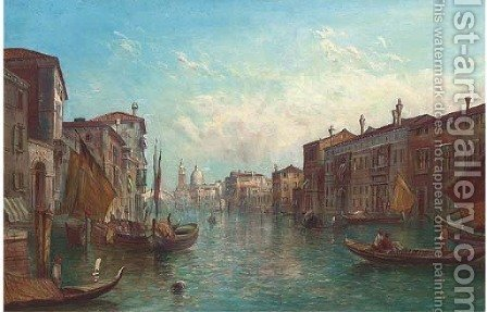 The Grand Canal, Venice 7 by Alfred Pollentine - Reproduction Oil Painting