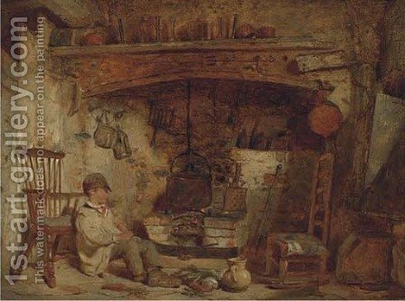 Waiting for the boil by Alfred Provis - Reproduction Oil Painting