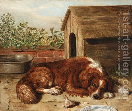 Dog by Alfred R. Barber - Reproduction Oil Painting