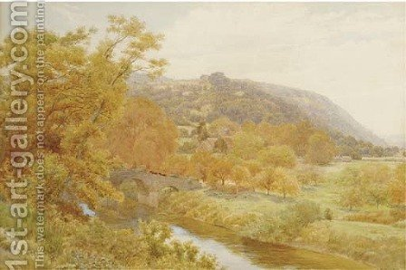 Bredwardine Bridge on the Wye, Hereford by Alfred Robert Quinton - Reproduction Oil Painting