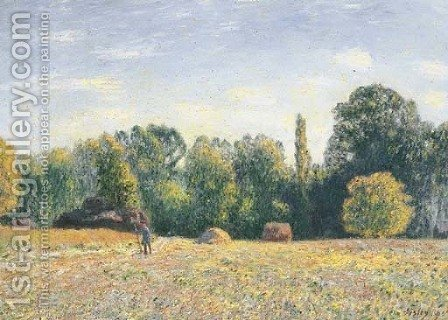 Lisiere de foret by Alfred Sisley - Reproduction Oil Painting