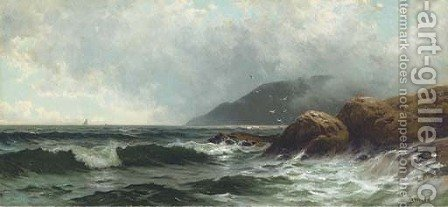 Rocky Coastline 2 by Alfred Thompson Bricher - Reproduction Oil Painting