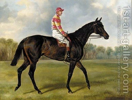 Ladas, with jockey up by Alfred Wheeler - Reproduction Oil Painting