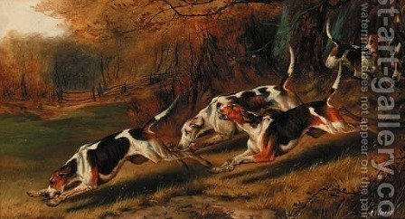 On the Scent by Alfred Wheeler - Reproduction Oil Painting