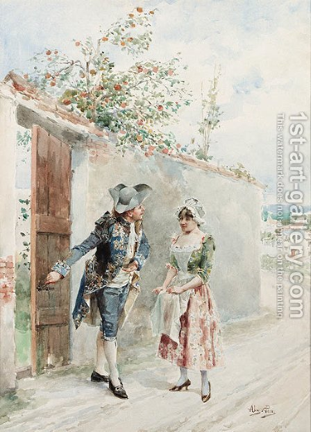 Couple by Alonso Perez - Reproduction Oil Painting