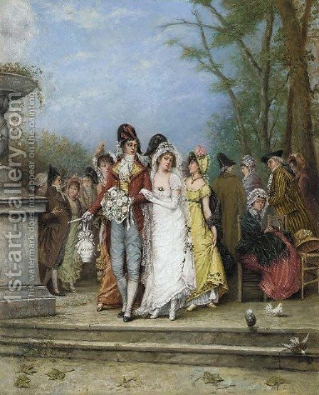 The wedding party by Alonso Perez - Reproduction Oil Painting