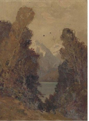 Reproduction oil paintings - A. Dupont - Landscape study