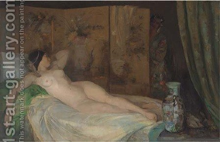 Odalisque by Amandus Faure - Reproduction Oil Painting