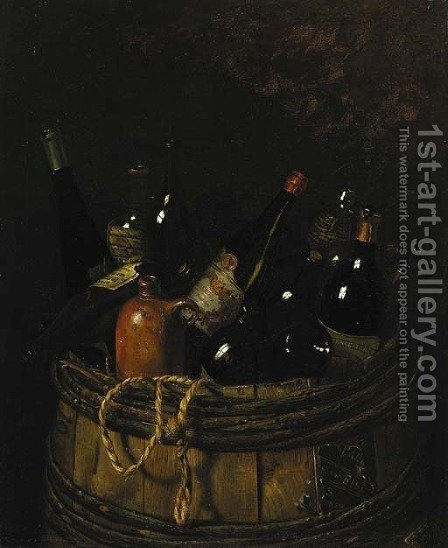 Barrel of Cheer by American School - Reproduction Oil Painting