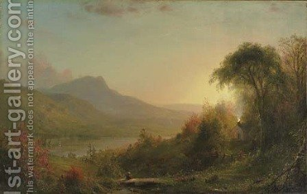Early Autumn by American School - Reproduction Oil Painting