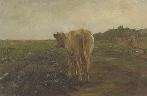 Reproduction oil paintings - Anton Mauve - A cow in a meadow - a study