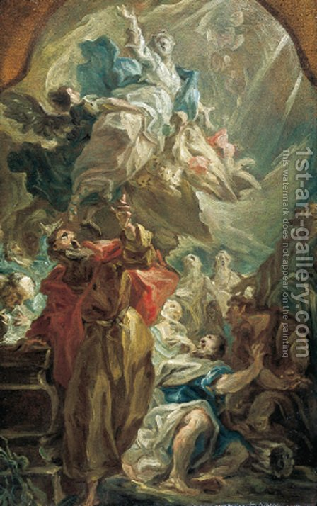 The Assumption of the Virgin by Giovanni Antonio Pellegrini - Reproduction Oil Painting