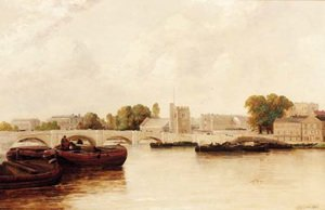 Gordon Arthur Meadows reproductions - On the Thames at Putney