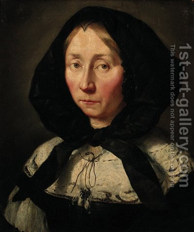 Portrait of a lady by (after) Abraham Van Den Tempel - Reproduction Oil Painting
