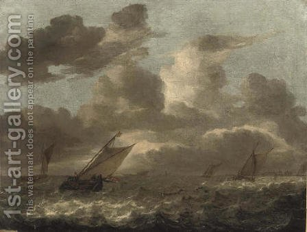 Shipping in choppy waters by (after) Abraham Van Beijeren - Reproduction Oil Painting