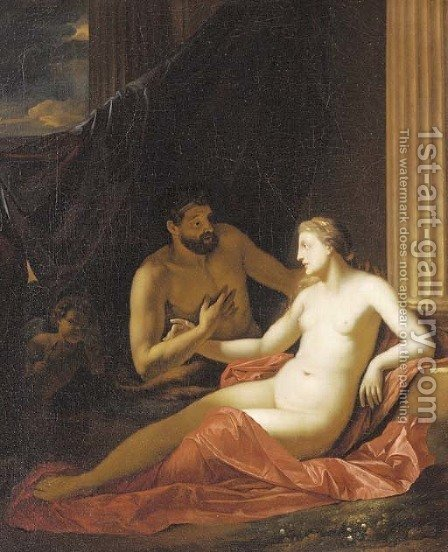Venus and Adonis by (after) Adriaen Van Der Werff - Reproduction Oil Painting