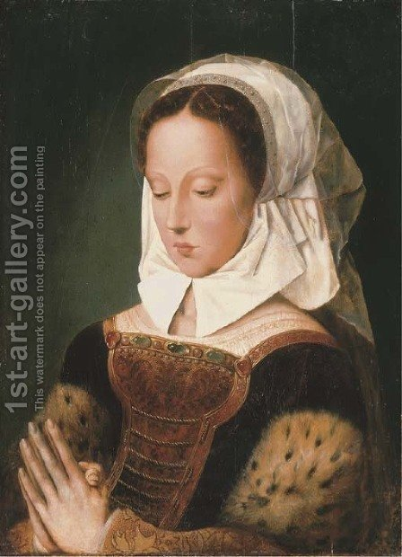 A sibyl by (after) Ambrosius Benson - Reproduction Oil Painting