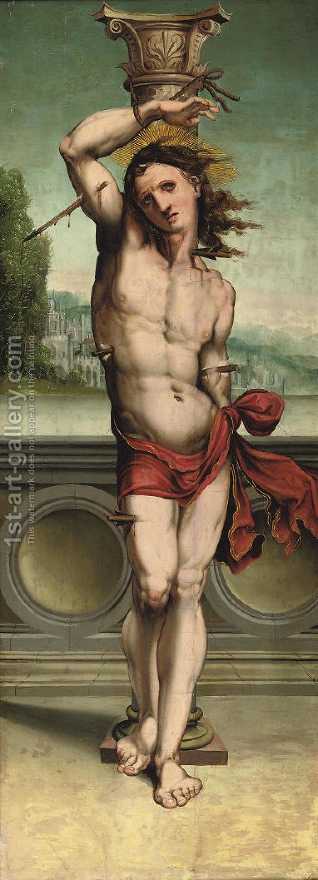 Saint Sebastian by (after) Anton Woensam Von Worms - Reproduction Oil Painting