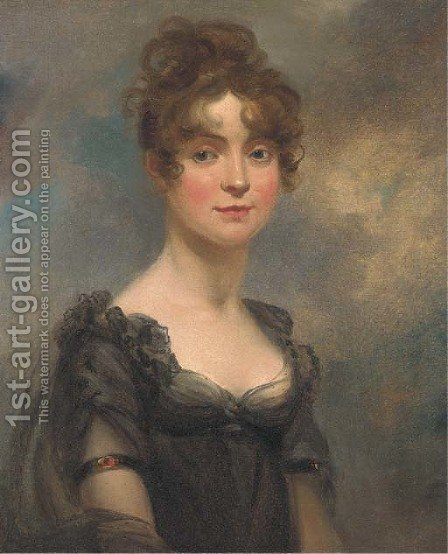 Portrait of Harriet Leonard Bull by (after) Arthur William Devis - Reproduction Oil Painting