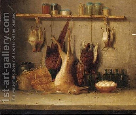 Game in a larder 2 by (after) Benjamin Blake - Reproduction Oil Painting