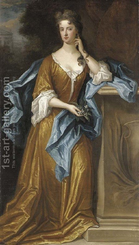 Portrait of Lady Elizabeth Germaine by (after) Charles D' Agar - Reproduction Oil Painting