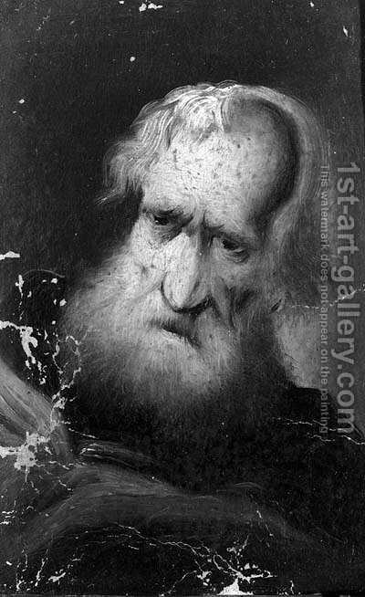 Portrait of an old bearded man by (after) Christian Wilhelm Dietrich, Called Dietricy - Reproduction Oil Painting