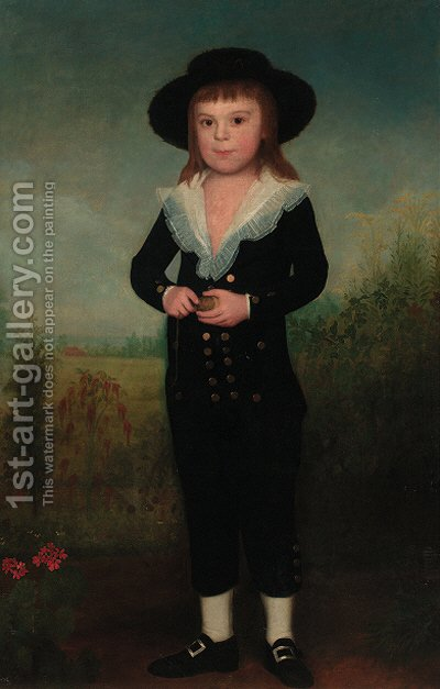 Portrait of a boy by (after) Francisco Bayeu Y Subias - Reproduction Oil Painting