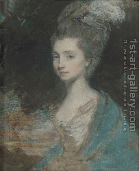 Portrait of a lady by (after) Daniel Gardner - Reproduction Oil Painting