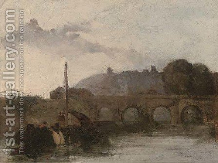 Evening on the river by (after) David Cox - Reproduction Oil Painting