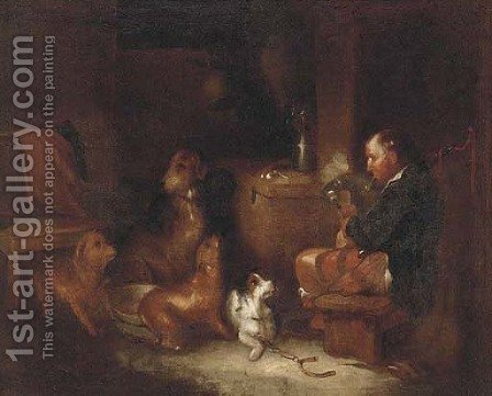 A melody from master by (after) Edwin Armfield - Reproduction Oil Painting