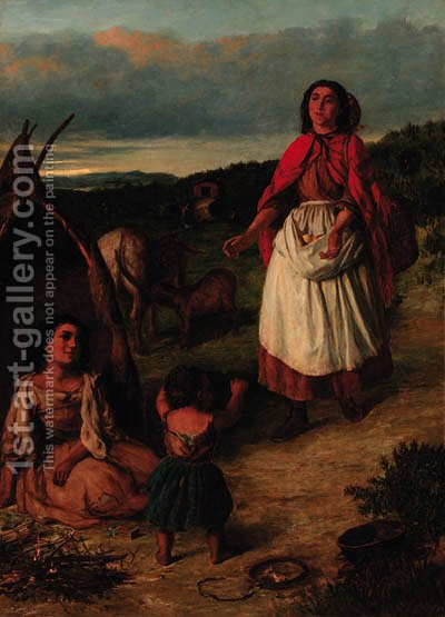 The reunion by (after) Long, Edwin - Reproduction Oil Painting