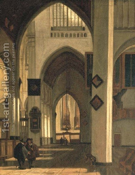 A church interior by (after) Emanuel De Witte - Reproduction Oil Painting