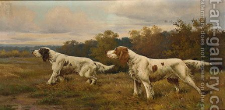 Pointers on the scent by (after) Eugene Petit - Reproduction Oil Painting