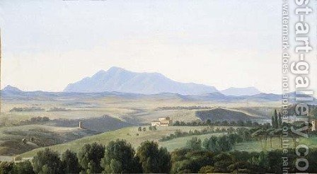 A view in the Roman campagna by (after) Antoine-Felix Boisselier - Reproduction Oil Painting