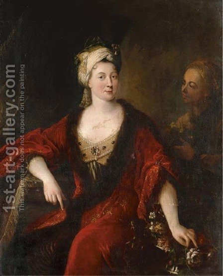 Portrait of a lady by (after) Francois De Troy - Reproduction Oil Painting