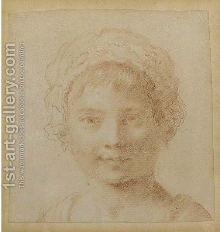Portrait of a young girl by (after) Francesco Bartolozzi - Reproduction Oil Painting