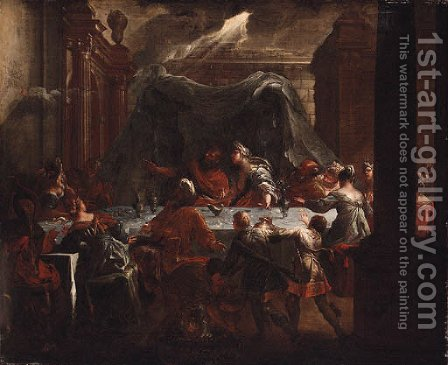 Belshazzar's Feast by (after) Francesco Monti - Reproduction Oil Painting