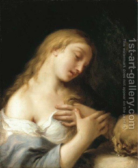The Penitent Magdalen by (after) Francesco Trevisani - Reproduction Oil Painting