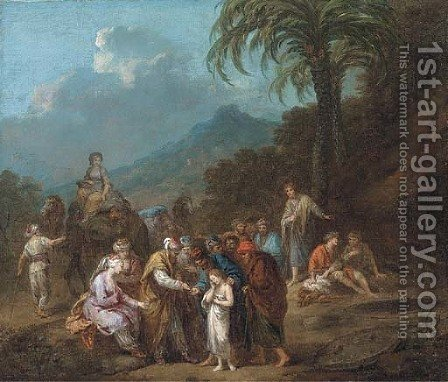 Joseph sold into slavery to the Ishmaelites by (after) Francesco Zuccarelli - Reproduction Oil Painting